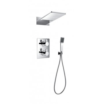 Essence concealed thermostatic shower mixer 3-way diverter w