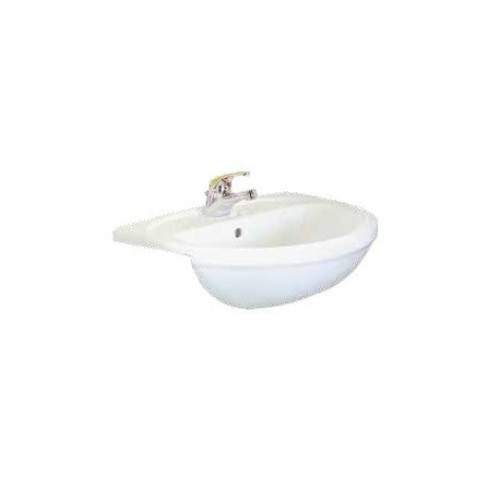 Arkitect semi recessed vanity basin 1th white for Arkitect home