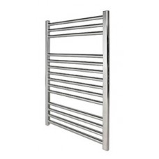 1000 x 500 Flat Chrome Towel Rail