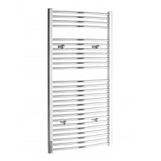 1000 x 600 Curved Chrome Towel Rail