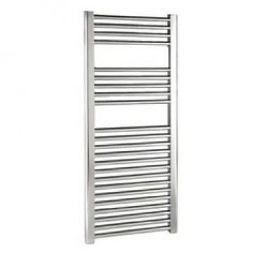 1000 x 600 Flat Chrome Towel Rail