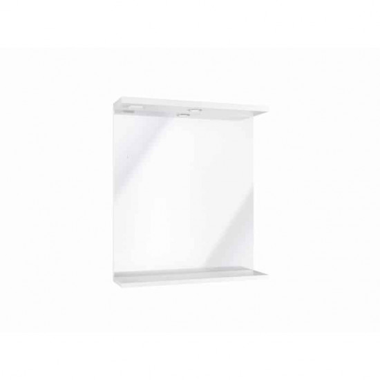 Scudo  Mirror With Lights - 650mm Wide - White Gloss