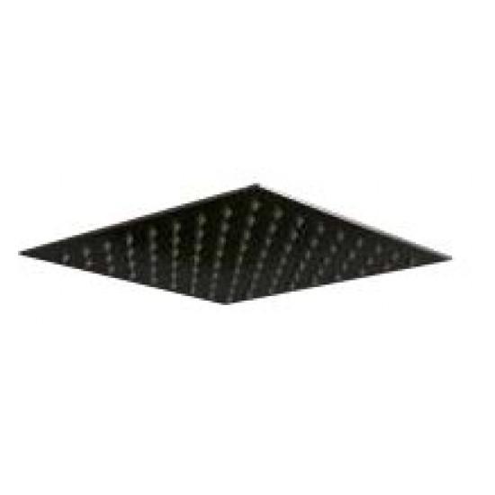 Scudo Square Shower Head(Fixed) - 300mm Wide - Black